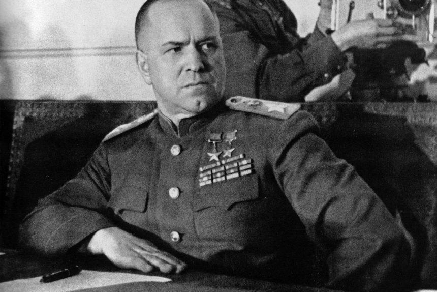 Подписание акта о капитуляции Германии Жуковым