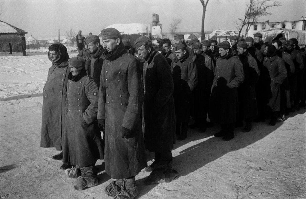 Немцы в плену в Сталинграде