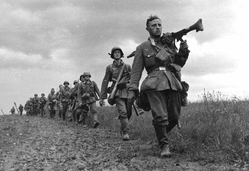 Немцы двигаются в сторону Франции