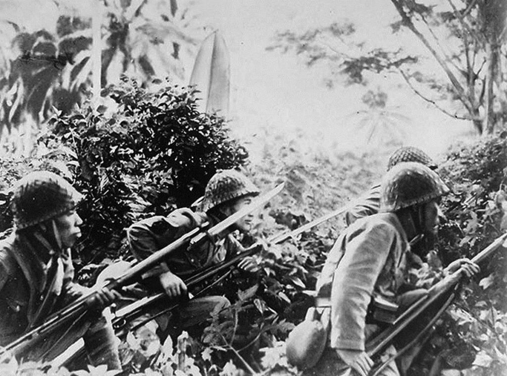 Японские войска в джунглях