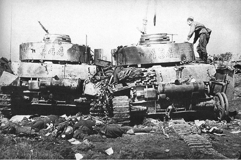 Сокрушенные немецкие танки