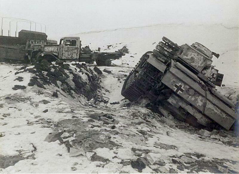 Подбитая и брошенная техника Вермахта в Сталинграде