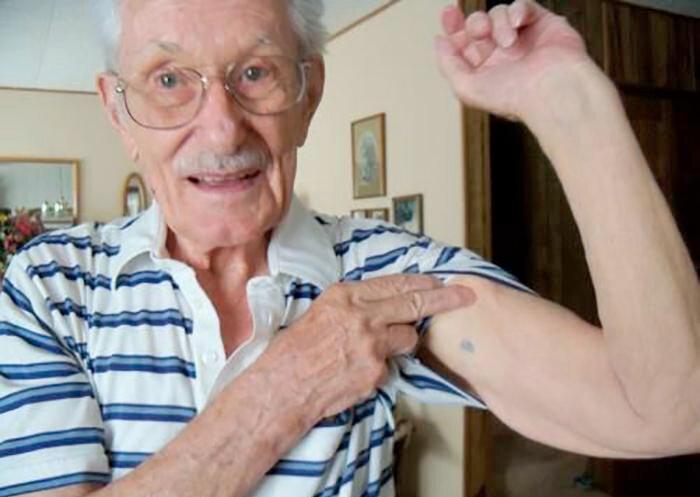 Татуировка у ветерана СС