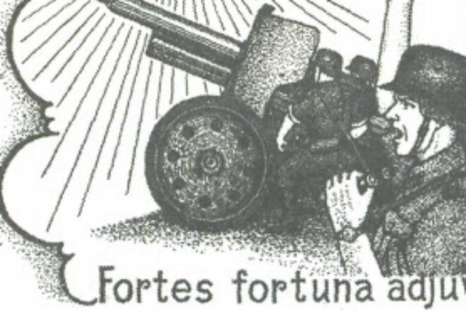 Тату артиллериста Германии