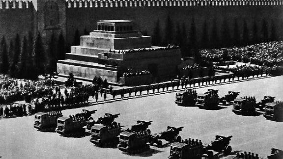 Парад в мае, фото 1941 года