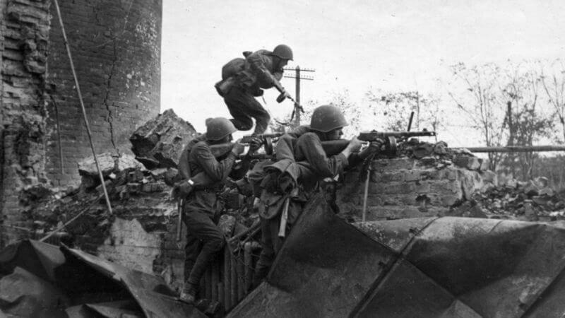 Солдаты РККА в Сталинграде